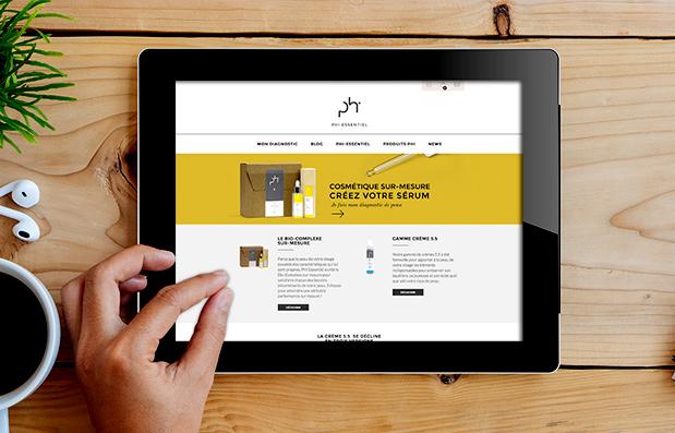 Création du site marchand Phi Essentiel