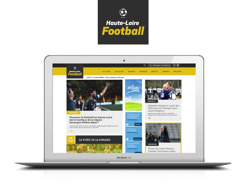 Cr ation du site internet haute loire football 32 for Haute loire football