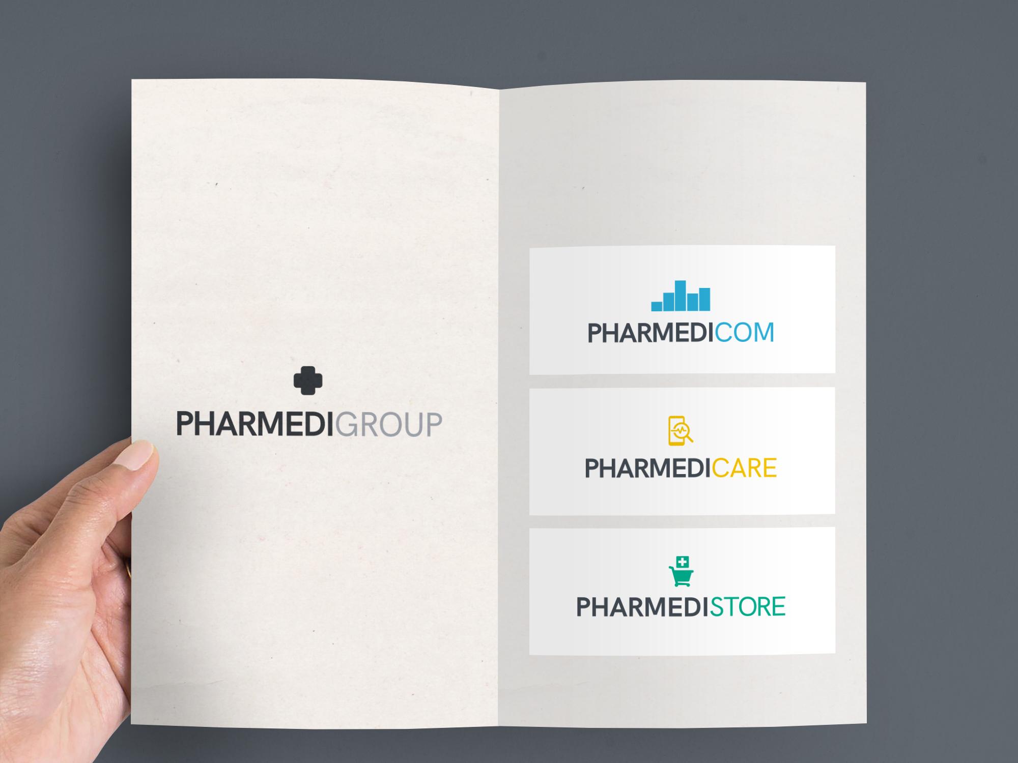 Création des marques Pharmédigroup, Pharmédicom, Pharmédicare et Pharmédistore.