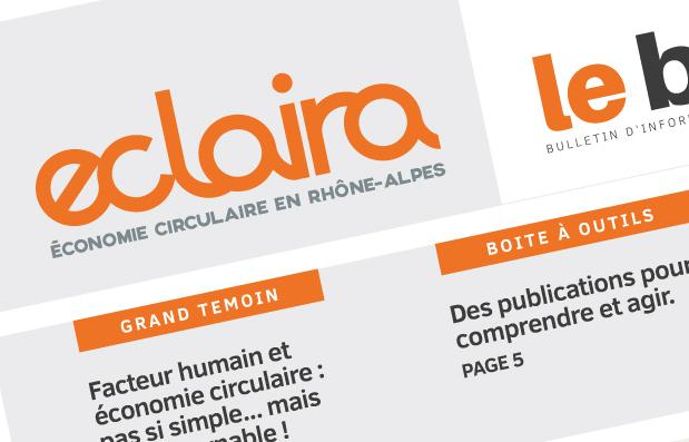 Edition du N°3 du magazine Eclaira, magazine de l'économie circulaire en Rhône-Alpes