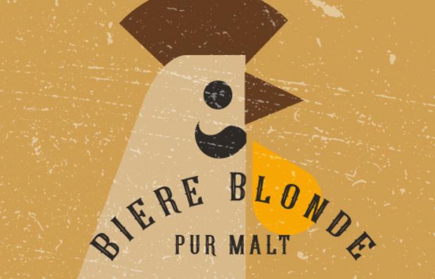 Création de l'identité de marque Bière Supercoq