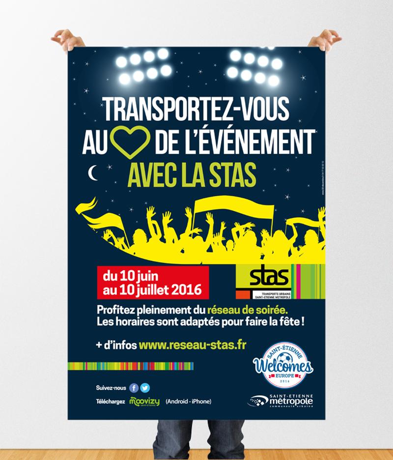 Transportez vous au cœur de l'événement Euro 2016 avec la STAS