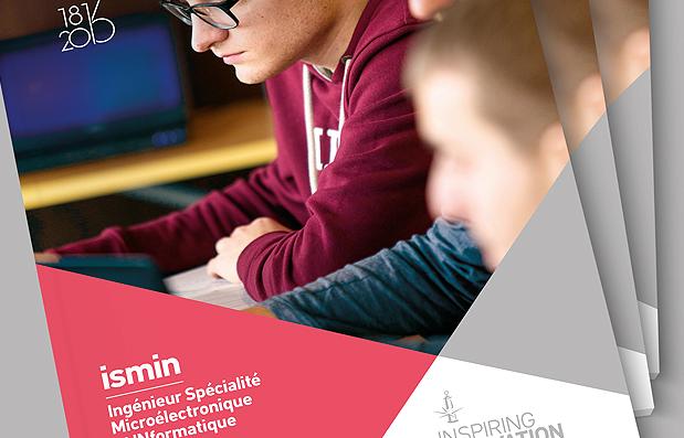 Création de la brochure ISMIN de l'Ecole des Mines de Saint-Etienne