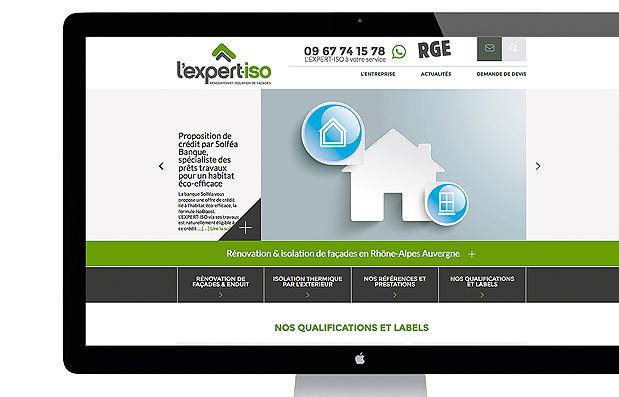 Création du site internet L'Expert-Iso