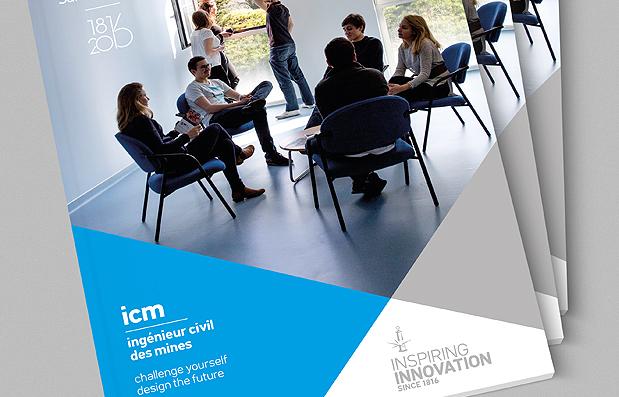 Création de la brochure ICM de l'Ecole des Mines de Saint-Etienne