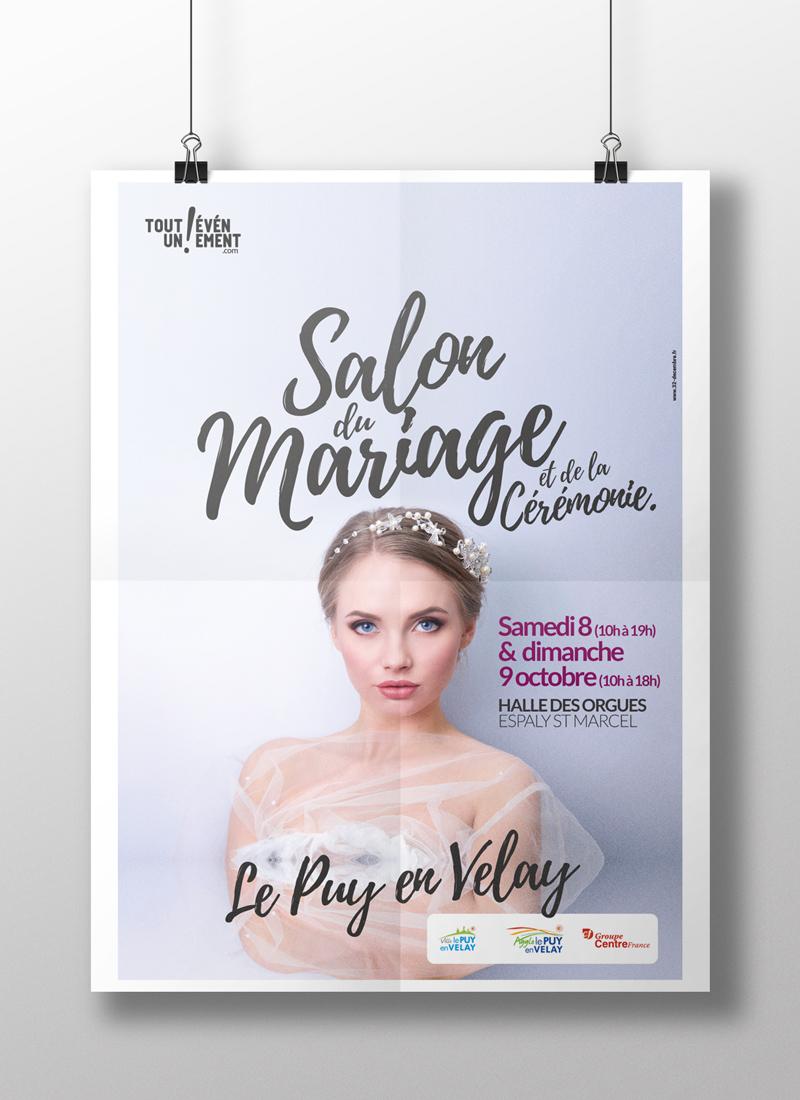Campagne de communication pour le salon du Mariage et de la cérémonie au Puy-en-Velay.