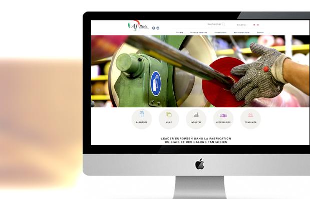 Création du site internet de la société AJ Biais