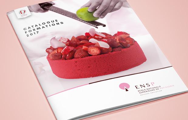 Création du catalogue formation de l'Ecole Nationale de Pâtisserie