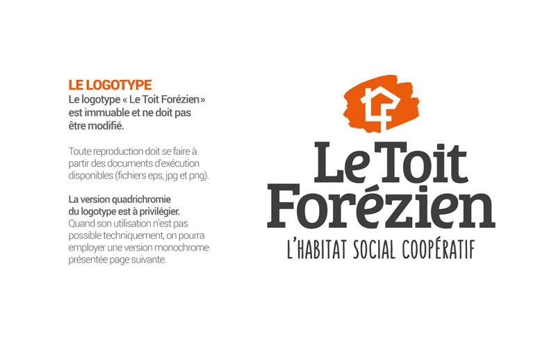 Création de la nouvelle image de marque Le Toit Forézien.