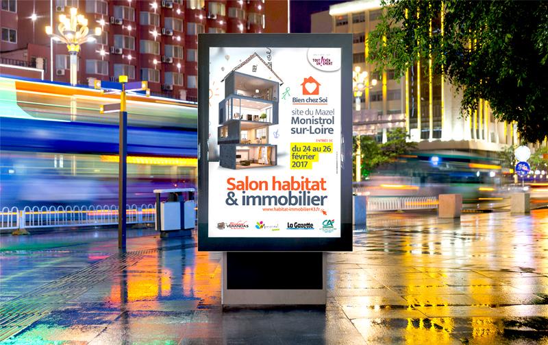 Campagne de communication salon de l'habitat