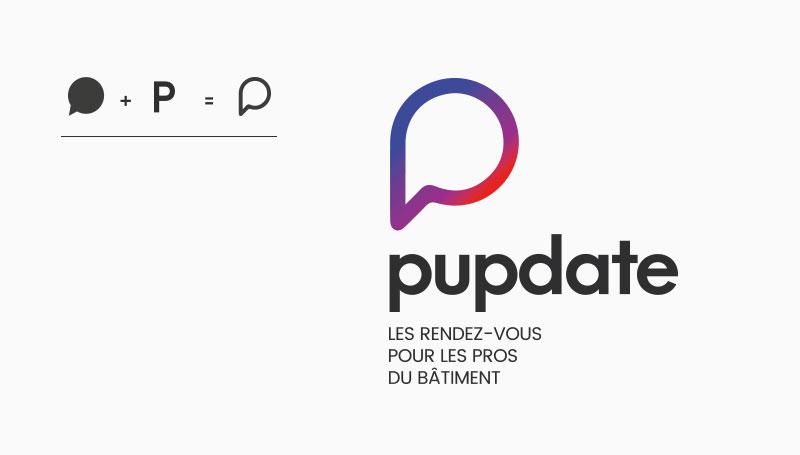 Naming et création de la marque b to b Pupdate
