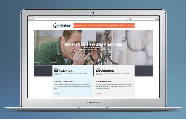 Création du site internet de la société Béalem
