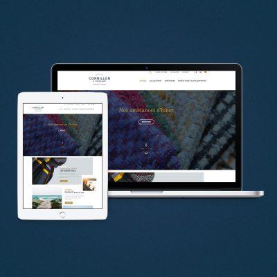 Site internet Cornillon Tissage