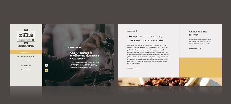 Création du site internet du Groupement Emeraude.