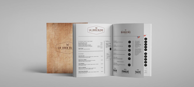 Création de l'identité visuelle du restaurant stéphanois La Java Bleue
