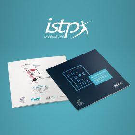 création de logo pour la communication pritn et web de l'école ISTP