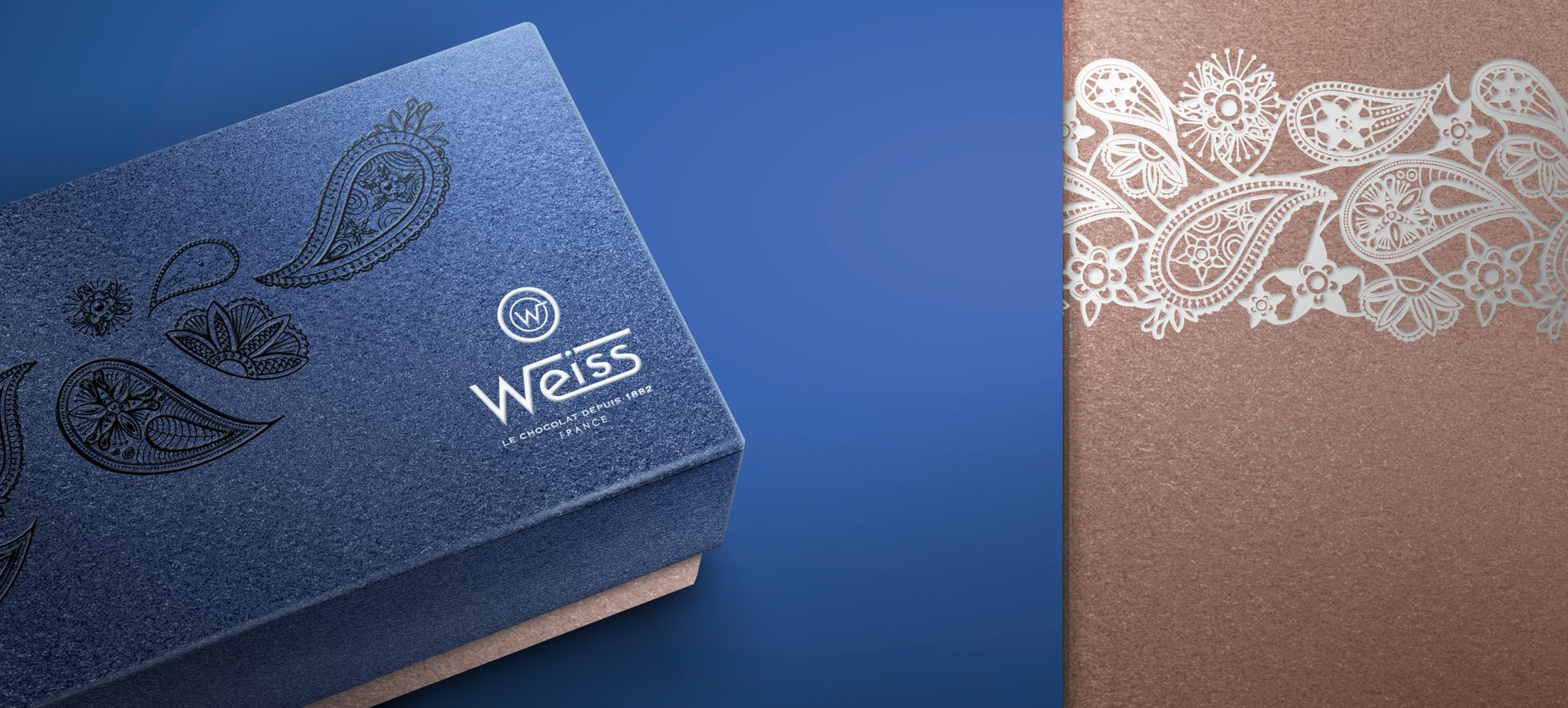 Packaging pour les Chocolats Weiss St Etienne
