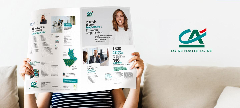 Création de la plaquette annuelle du Crédit Agricole Loire Haute-Loire.