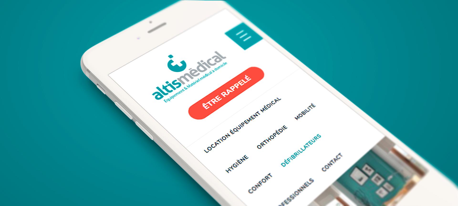 Création du site internet Altis Médical.
