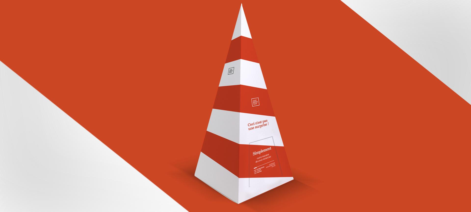 Création iconique pour les cadeaux d'affaires Expresseau