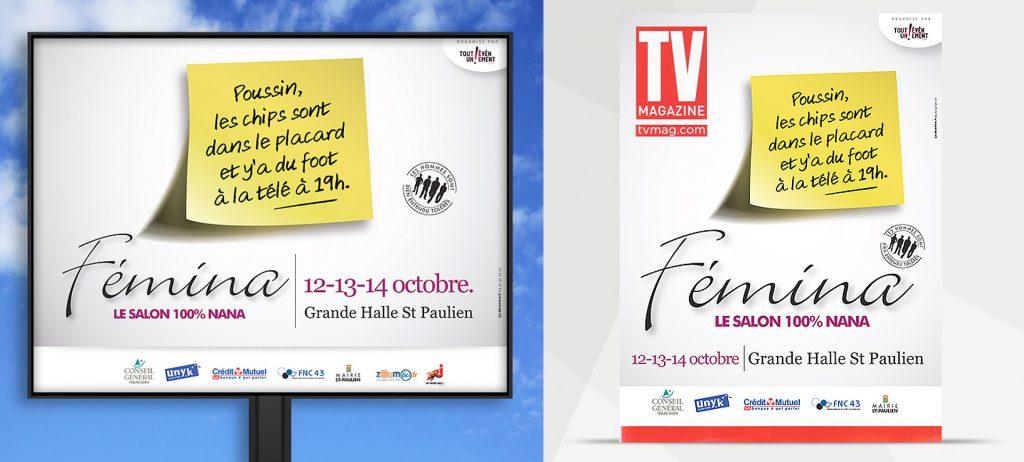 Communication d'événementsSalon Fémina avec l'agence 32 Décembre