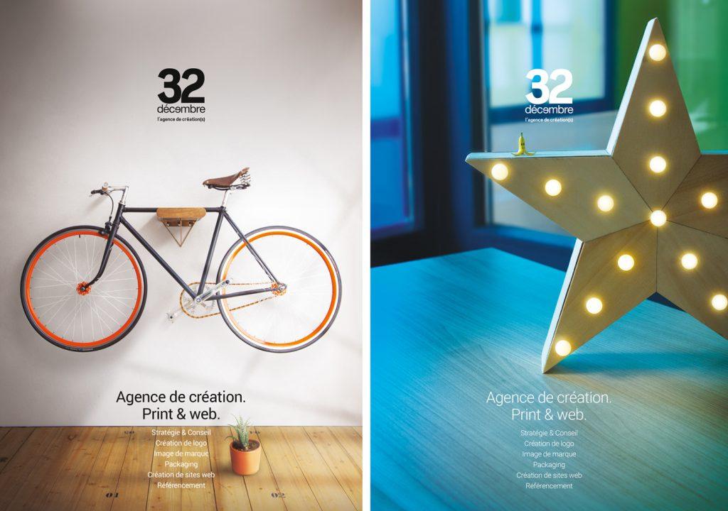 L'agence conseil en communication 32 Décembre vous accompagne dans vos projets print, web et vos créations de marques