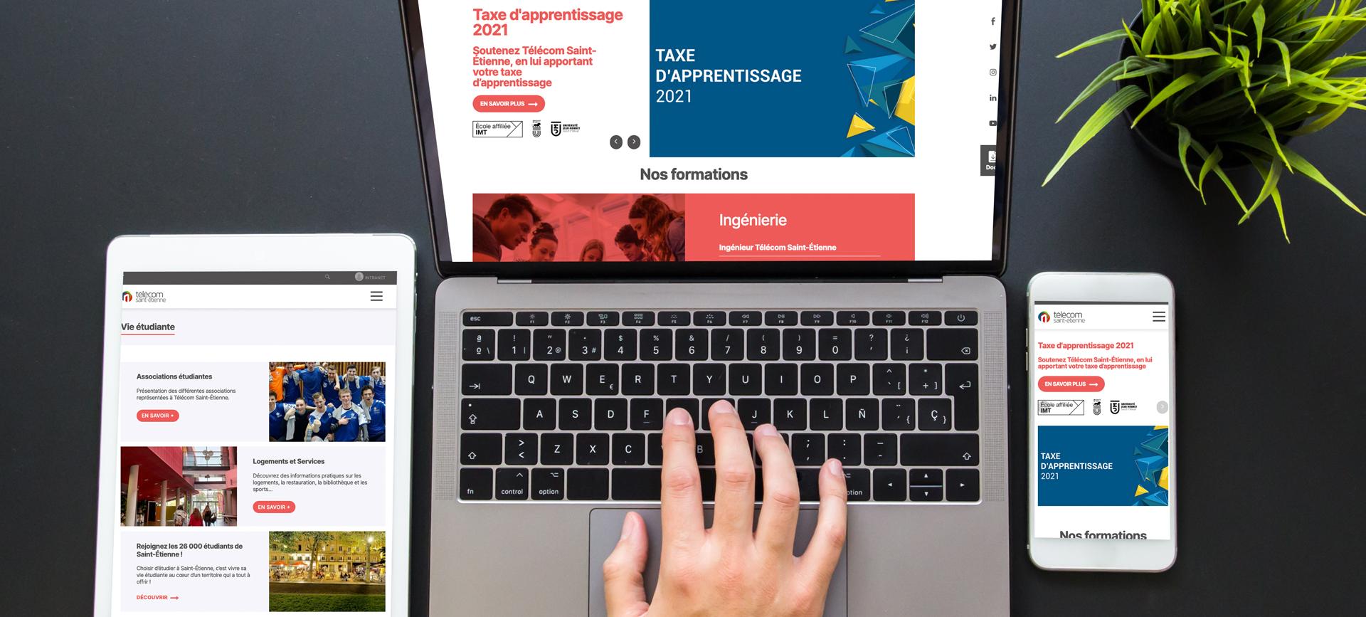 Création du site internet Télécom Saint-Étienne.