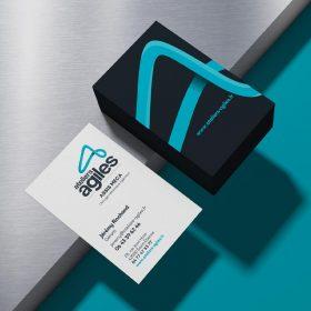 Carte de visite réalisé par notre agence de communication à Saint-Etienne pour leur branding