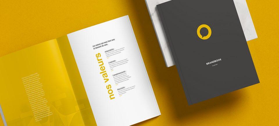 Brandbook réalisé par l'agence de communication 32 Décembre pour la création d'une nouvelle marque : Ensome