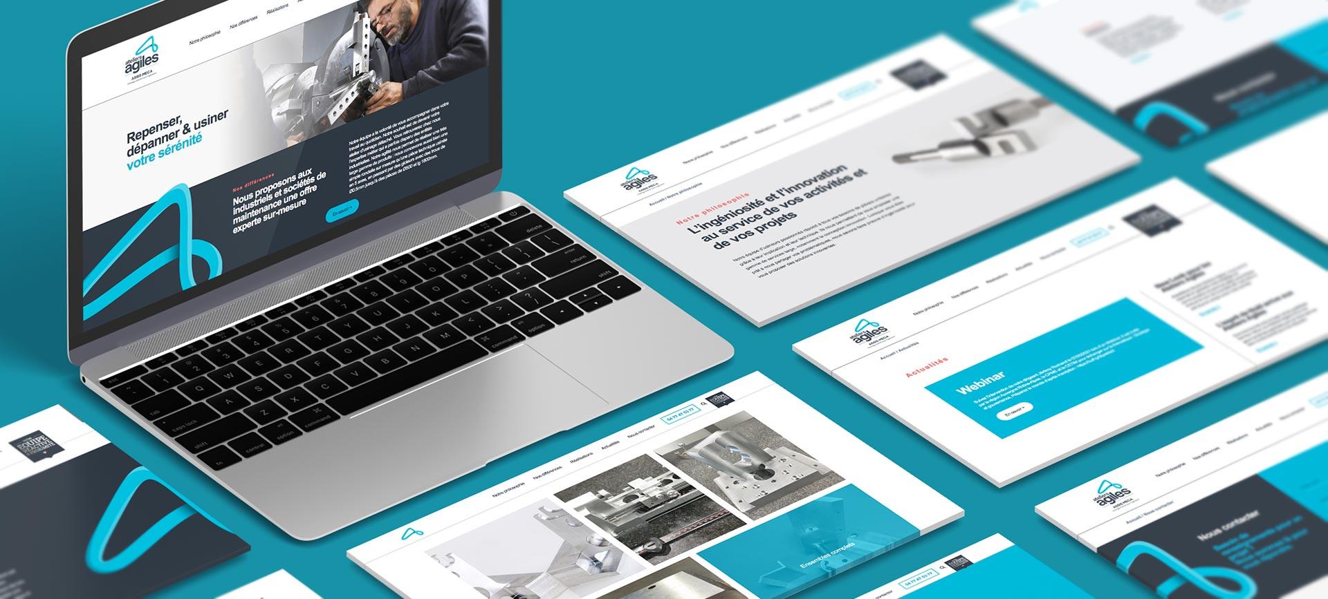 Bandeau présentant le site internet Aletiers Agiles et son branding