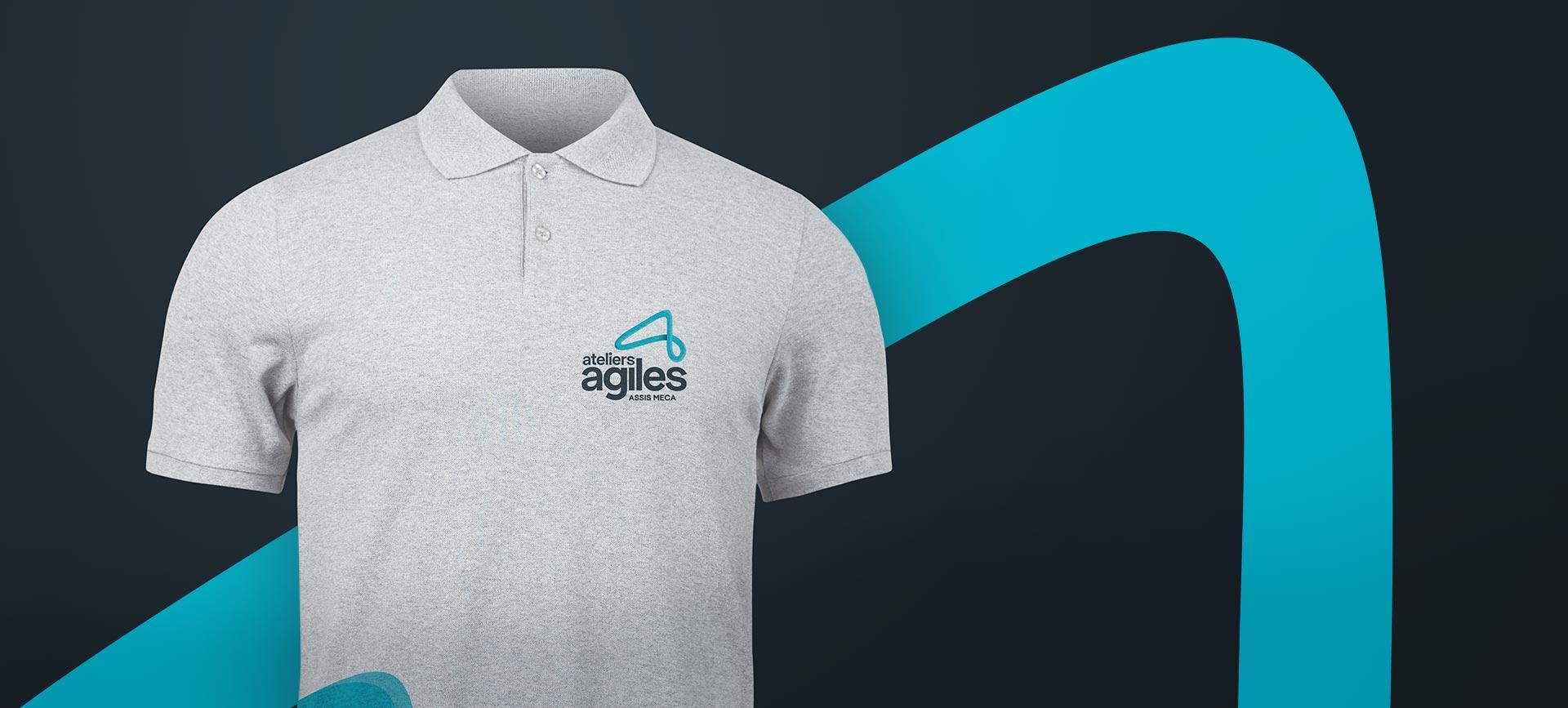 T-shirt Ateleirs Agiels par notre agence de communication pour leur branding