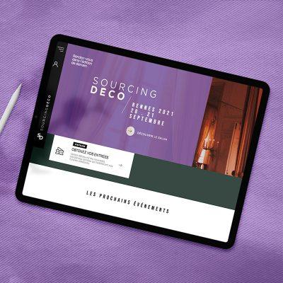 Mockup carré du site SourcingDéco par notre agence créative pour son identité de marque