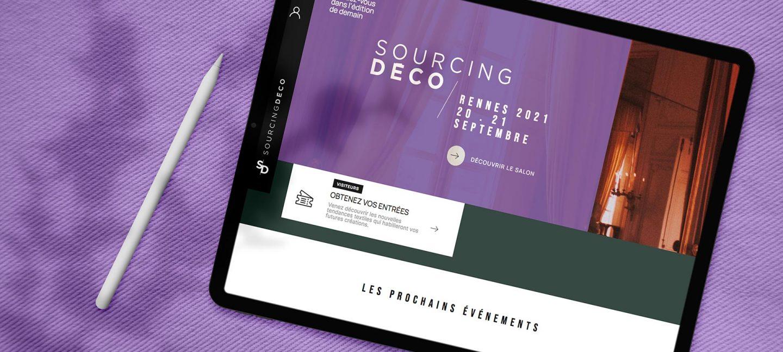 Bandeau mockup pour création de site SourcingDéco pour son identité de marque