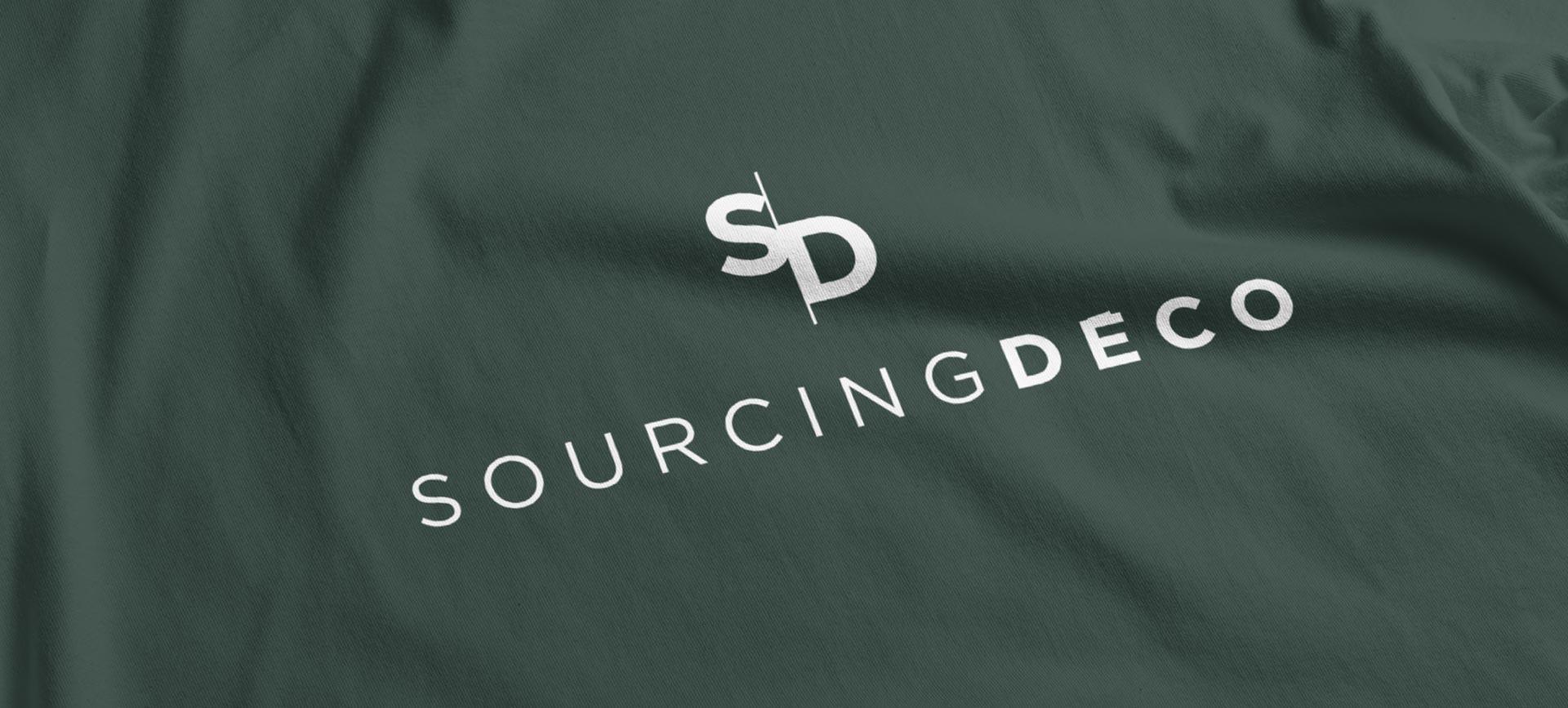 Création del ogo SourcingDéco pour leur nouvelle identité de marque