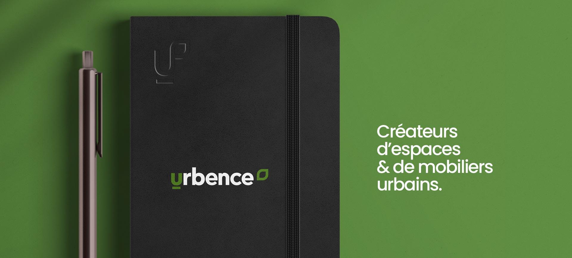 Cahier de note personnalisé pour Urbence et sa construction de marque