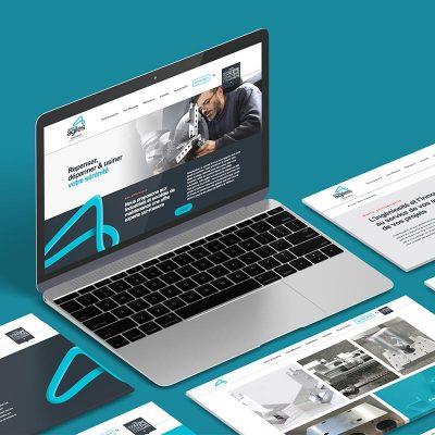 Mockup carré du site internet Ateliers Agiles pour leur branding